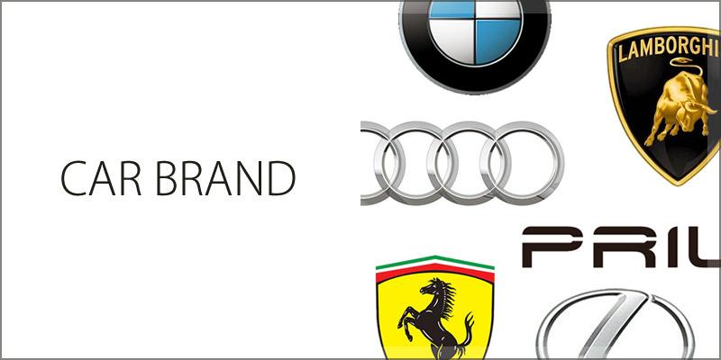 CAR BRAND BMW Ferrari Lamborghini Audi LEXUS PRIUS