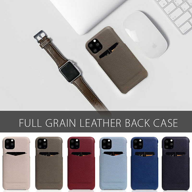 『SLG Design エスエルジー デザイン Full Grain Leather Back Case』
