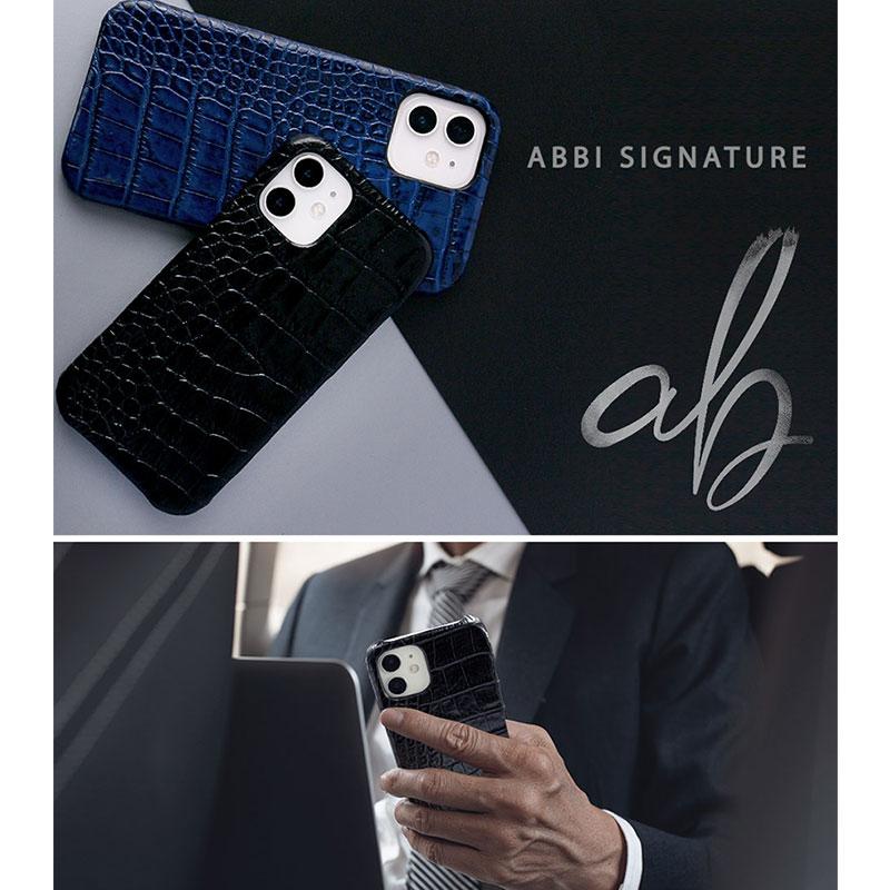 ABBI SIGNATURE イタリアンレザー クロコバックカバーケース