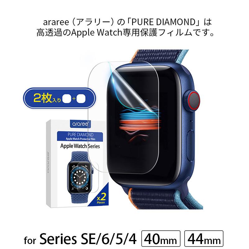 araree(アラリー)の「PURE DIAMOND」は高透過のApple Watch専用保護フィルムです。