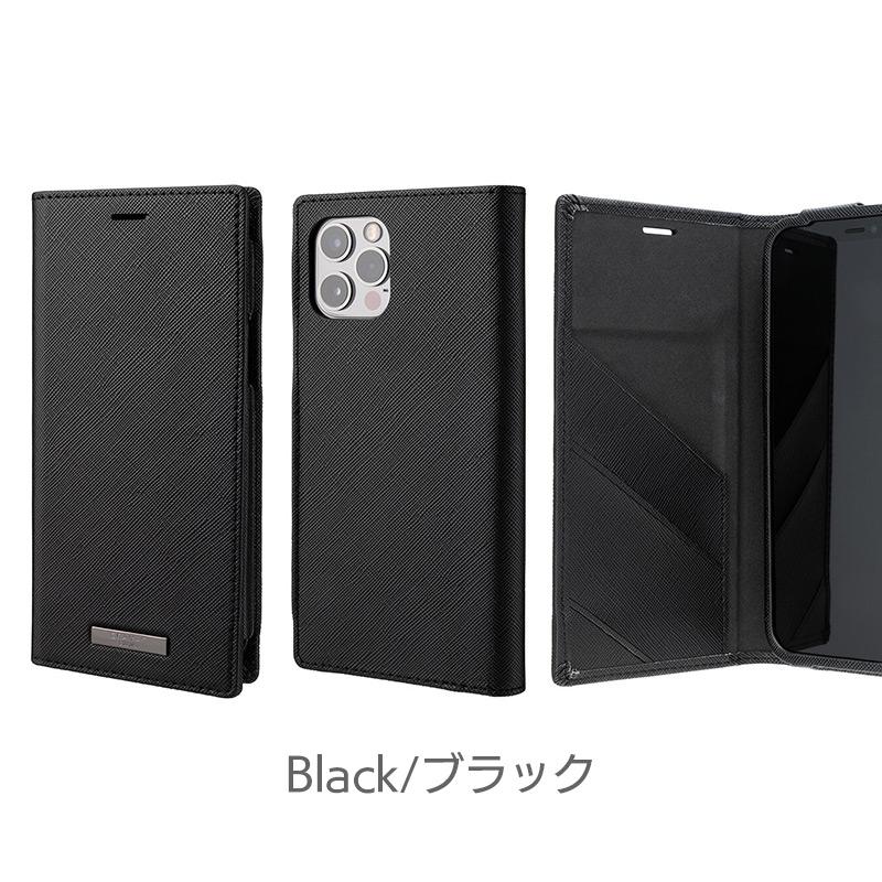ブラック iPhone13 mini Pro Max ケース 手帳型 レザー スマホケース 革
