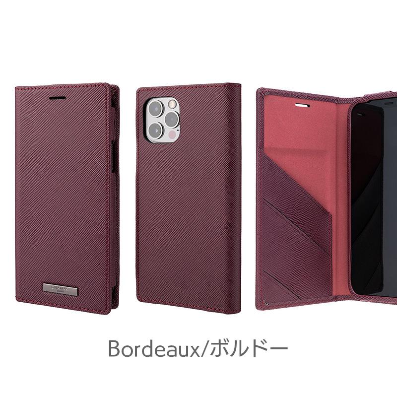 ボルドー iPhone13 mini Pro Max ケース 手帳型 レザー スマホケース 革