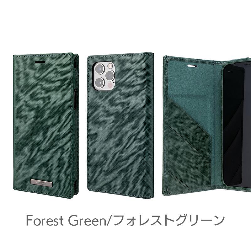 フォレストグリーン iPhone13 mini Pro Max ケース 手帳型 レザー スマホケース 革