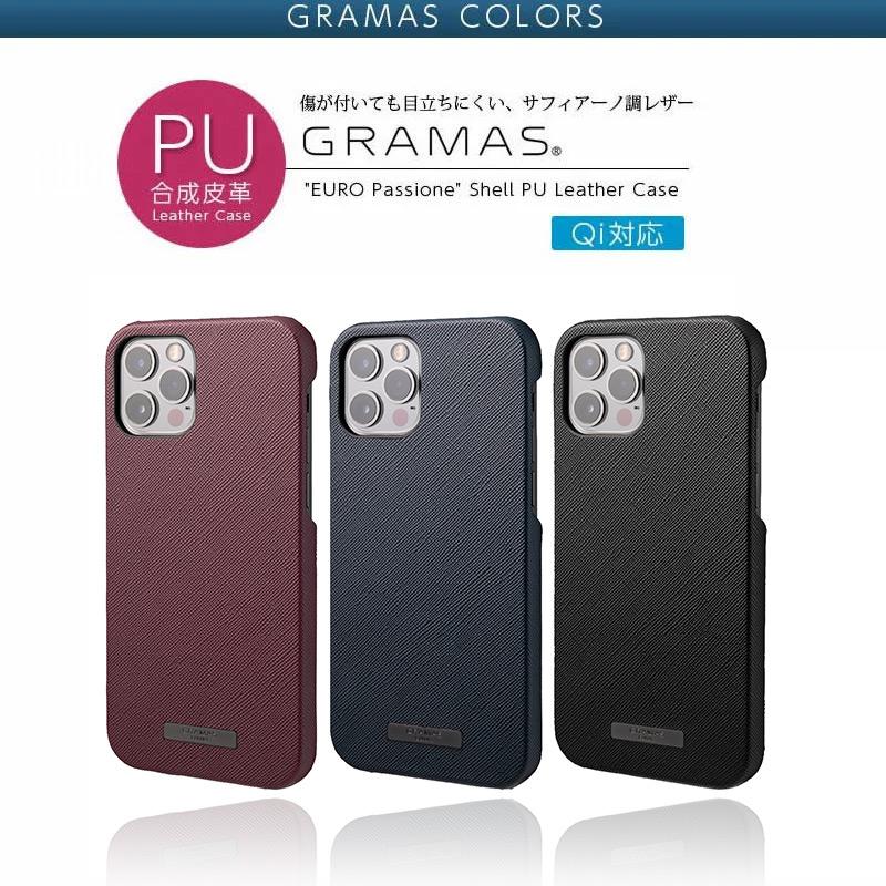 EURO Passione PU Leather Shell Case iPhone13 mini Pro Max ケース レザー 背面 カバー スマホケース