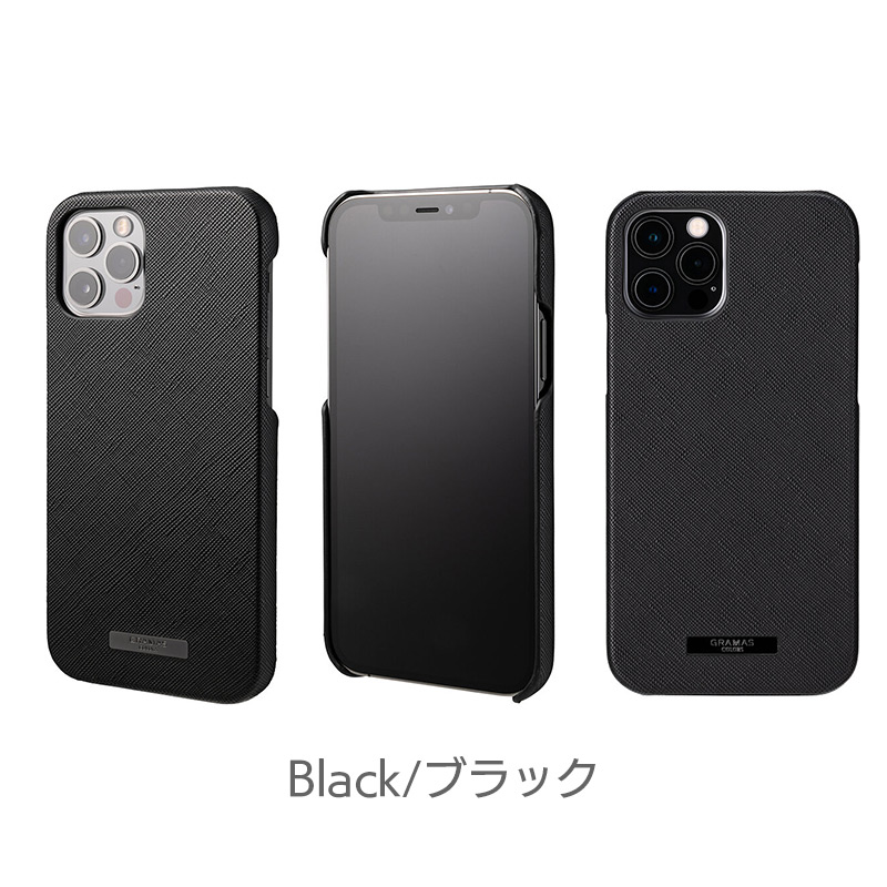 ブラック EURO Passione PU Leather Shell Case iPhone13 mini Pro Max ケース 背面 カバー