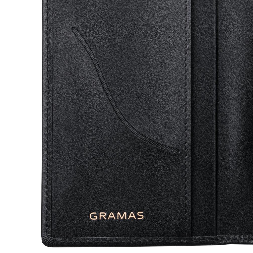 カードポケット付きイタリアンレザーのスマホケース、iPhone13 mini Pro Max
