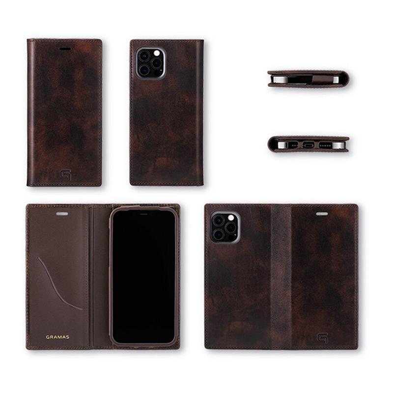 イタリア『イルチア社』製のミュージアムカーフを使用を使用したiPhoneケースは、スタイリッシュデザインです。