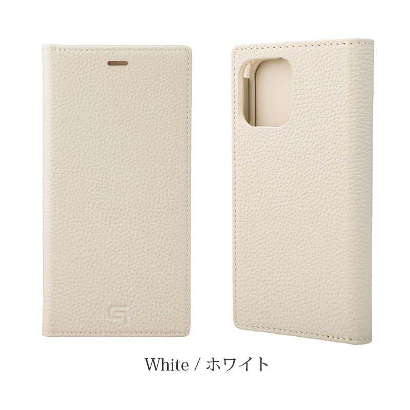 GRAMAS グラマス Shrunken-calf Genuine Leather Book Case。ホワイト White。