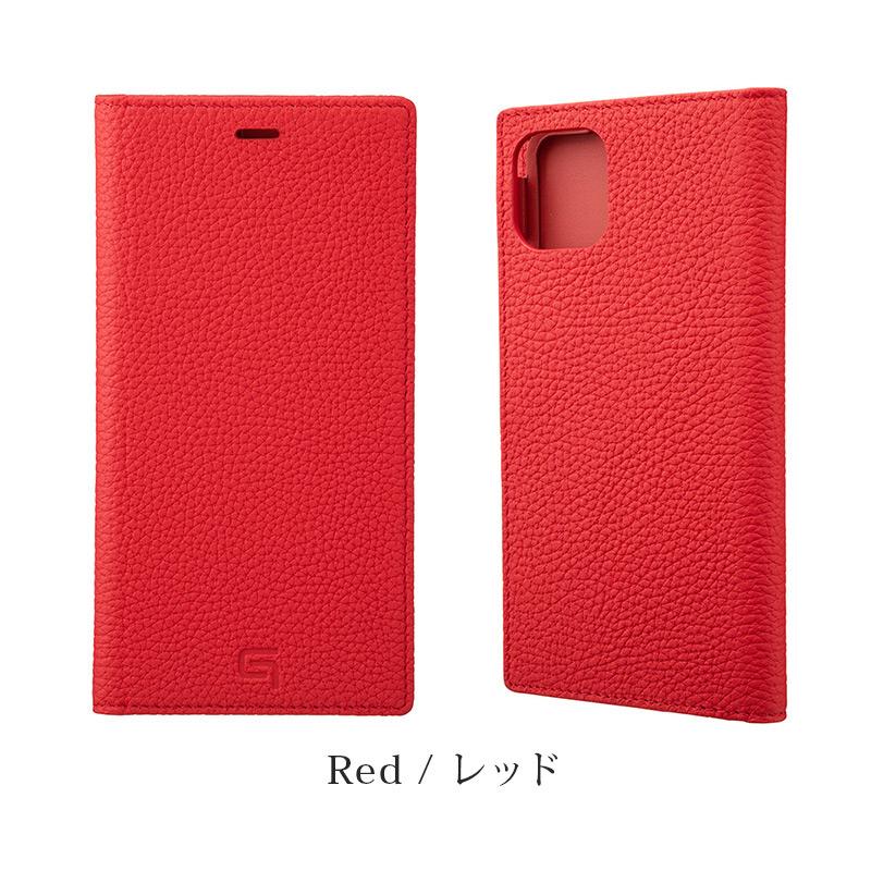 GRAMAS グラマス Shrunken-calf Genuine Leather Book Case。レッド Red。