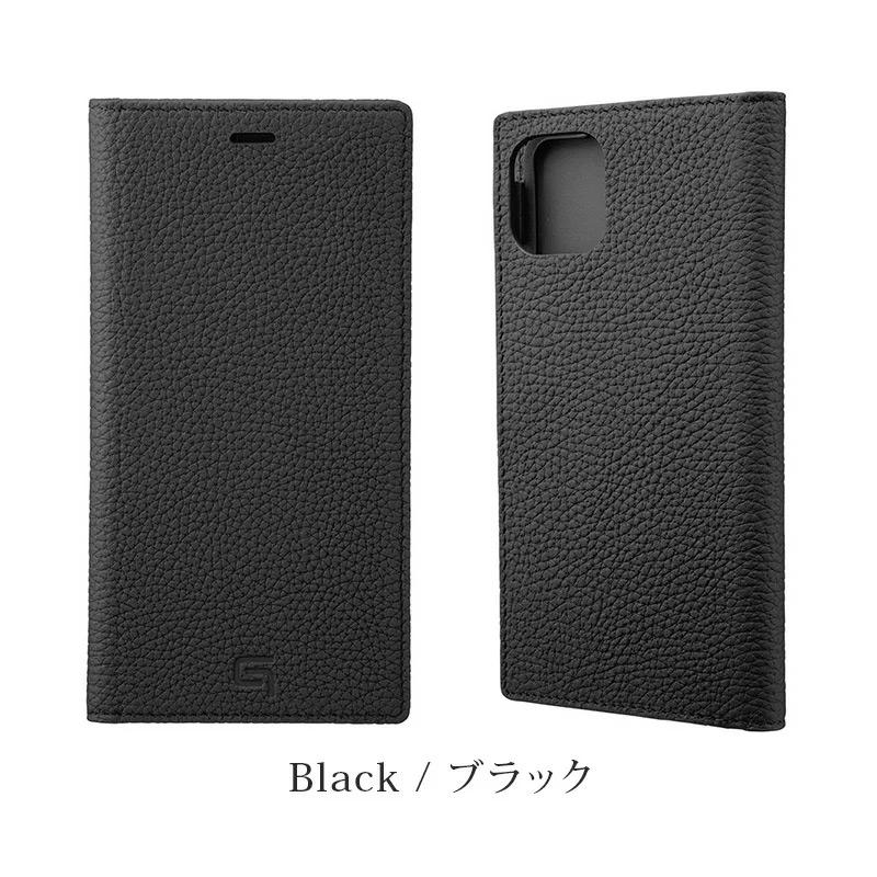 GRAMAS グラマス Shrunken-calf Genuine Leather Book Case。ブラック Black。