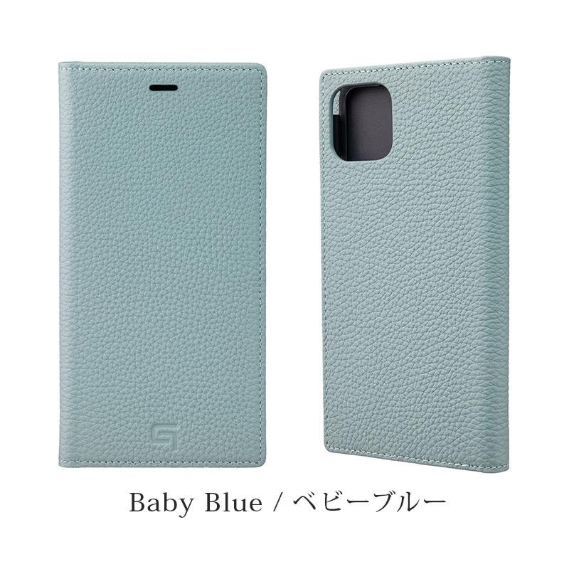 GRAMAS グラマス Shrunken-calf Genuine Leather Book Case。ベビーブルー Baby blue。