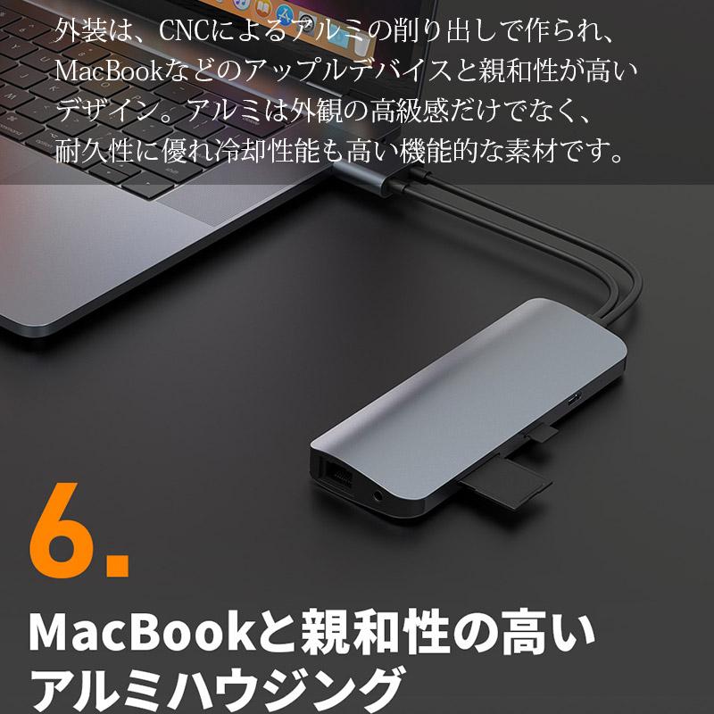 MacBookと親和性の高いアルミハウジング