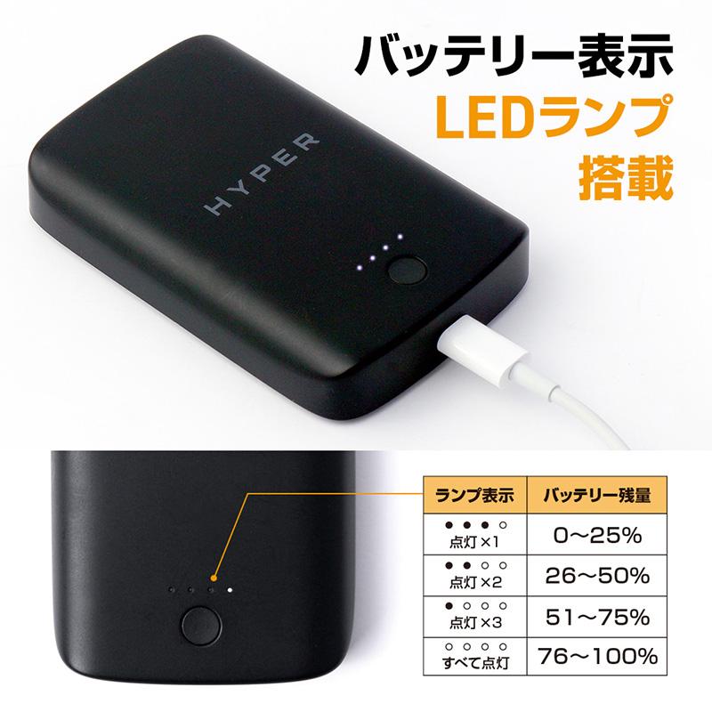 「HyperJuice マグネット式ワイヤレスモバイルバッテリー」は、バッテリーレベルを示す4段階のLEDランプを搭載。