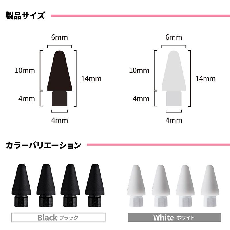 製品サイズは横x縦x厚さが0.6x1.4x0.6cm。カラーバリエーションは白と黒の二色展開
