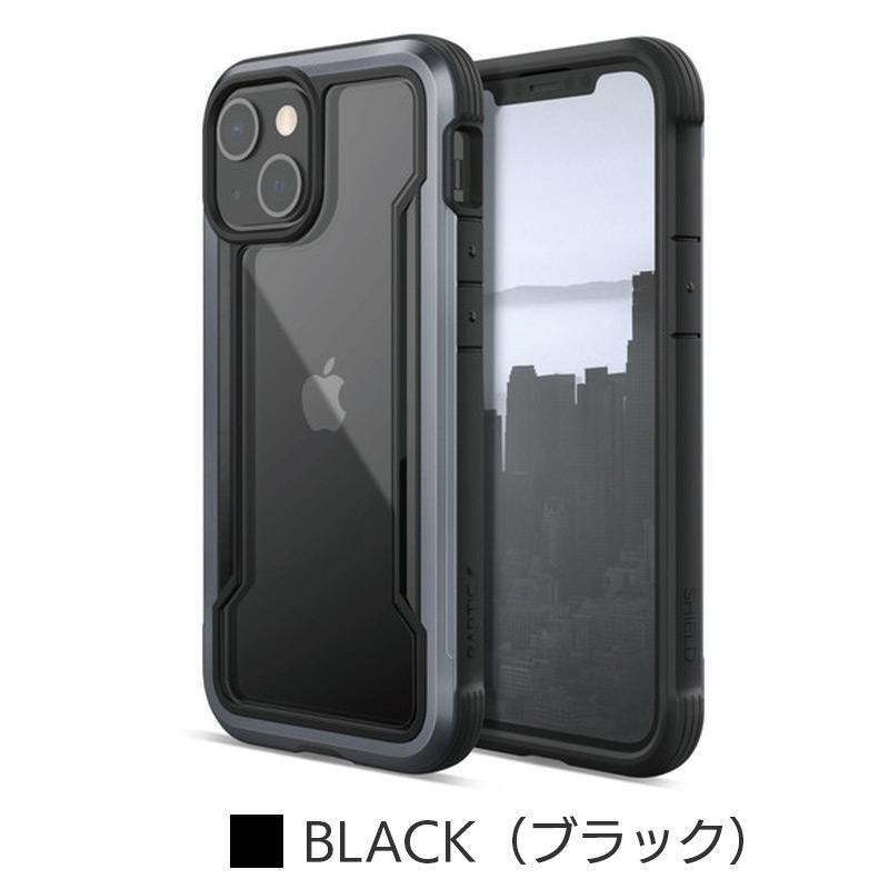 ブラック 『RAPTIC Shield Pro』 iPhone13 mini Pro Max ケース 衝撃吸収 背面 カバー 耐衝撃
