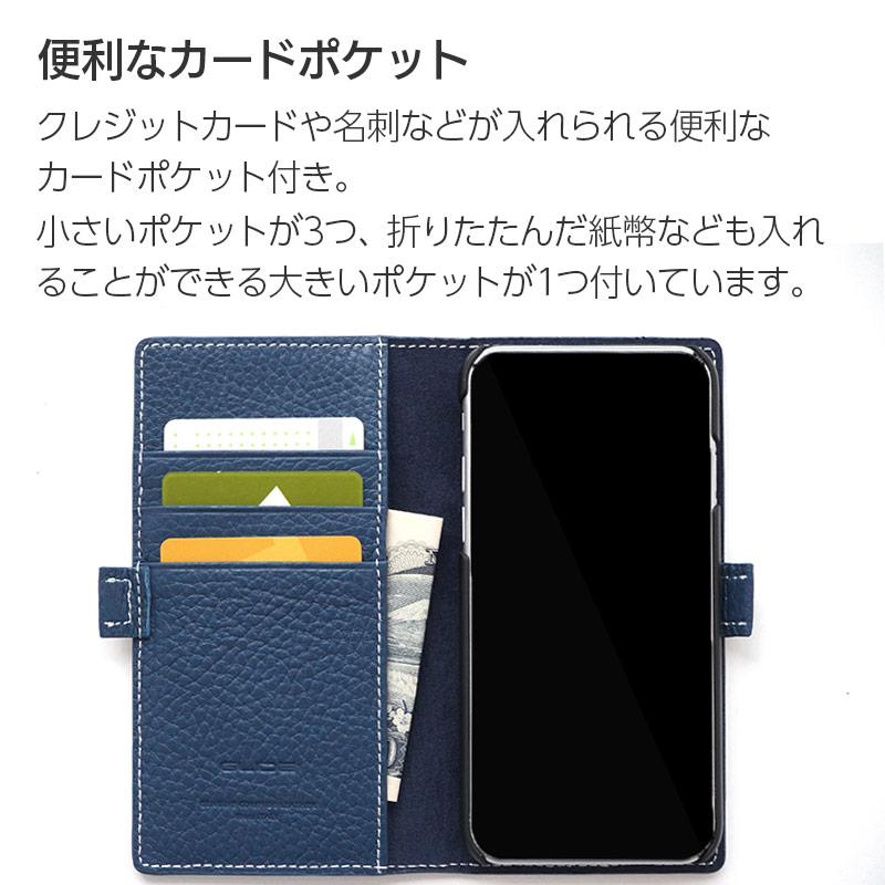 クレジットカードや名刺などが入れられる便利なカードポケット付き。小さいポケットが3つ、折りたたんだ紙幣なども入れることができる大きいポケットが1つ付いています。