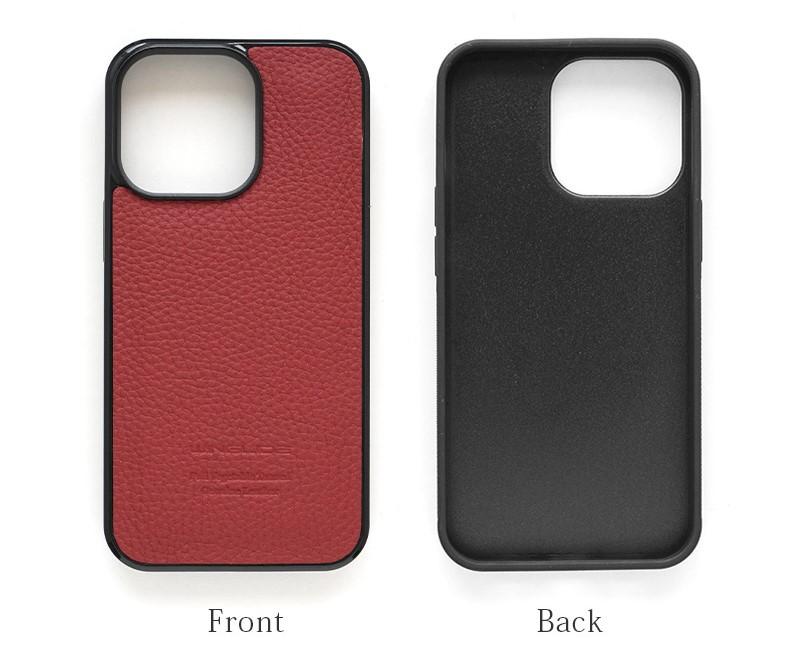 WINGLIDE『iPhone13シリーズ対応 シュランケンカーフ 背面カバー ケース』の表裏画像です。