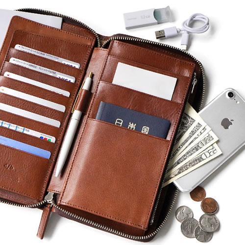 本革 レザー 革製品『DUCT トラベル オーガナイザー』 パスポートケース