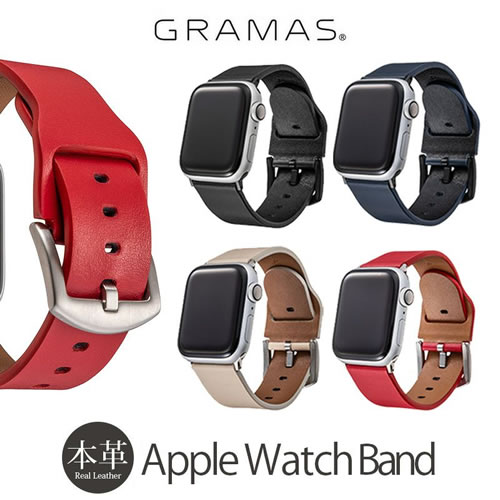 『GRAMAS Italian Genuine Leather Watchband for Apple Watch 』42mm 44mm 用