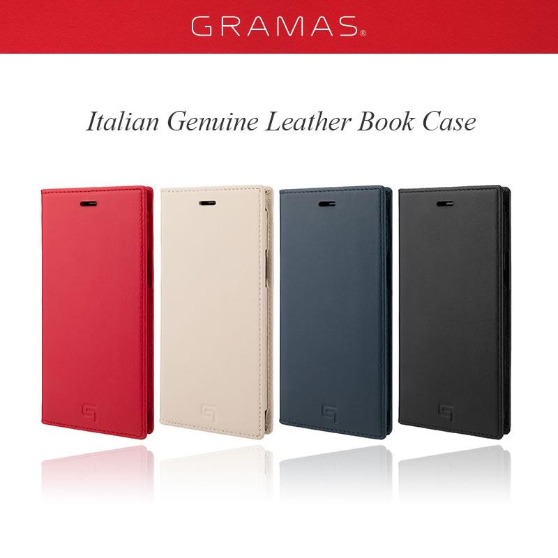 『GRAMAS グラマス Italian Genuine Smooth Leather Book Case』