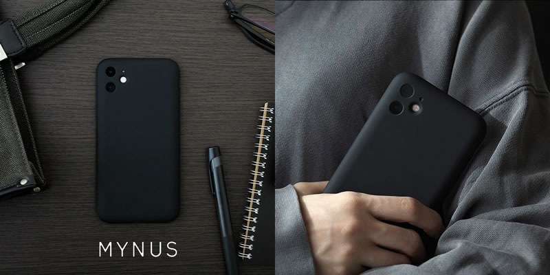 『MYNUS iPhone CASE』 iPhone ケース マットブラック 日本製