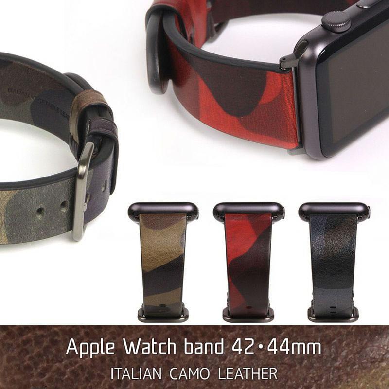 『SLG Design Italian Camo Leather』 Apple Watch Band Series4 Series3 Series2 Series1 44 / 42mm 用 本革 イタリアンカモレザー バンド