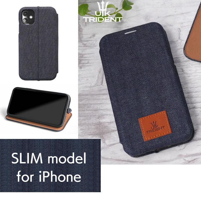 『UKTrident SLIMモデル』 iPhone ケース デニム