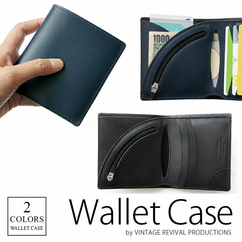 『Vintage Revival Productions Air Wallet Tanned Leather』 財布 本革 牛革レザー 日本製 ファスナー