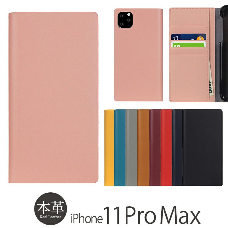 iPhone 11 Pro Max ケース 本革ケースの人気ランキング 2位  『SLG Design Calf Skin Leather Diary』 iPhone 11 Pro Max ケース 手帳型 本革 レザー