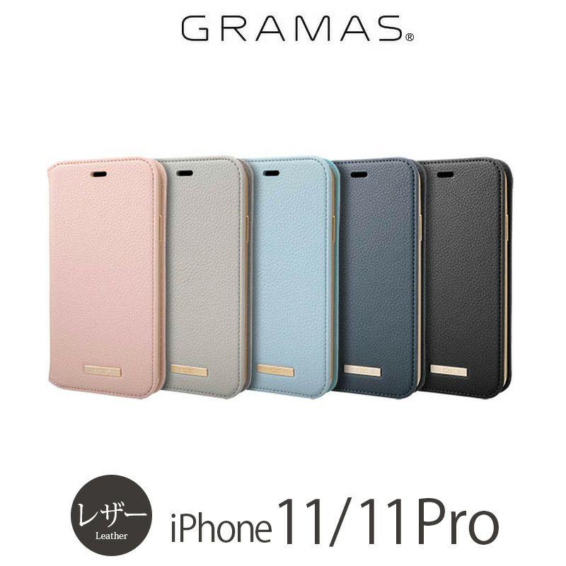 "iPhone11 Pro レザー ケース 売上 ランキング 2位              『GRAMAS COLORS ""Shrink"" PU Leather Book Case』 iPhone 11 / 11Pro ケース 手帳型 レザー"