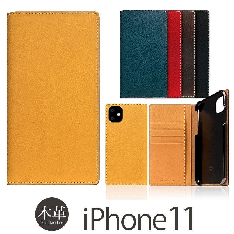 iPhone 11 ケース 本革 レザー 手帳型 選び方               SLG Design Full Grain Leather Case 本革 手帳型 ミネルバボックスレザー レザー