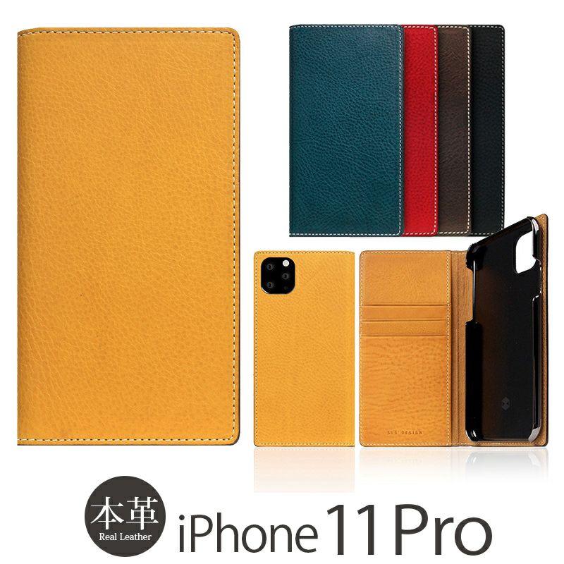 iPhone 11 Pro ケース 本革 レザー 選び方               SLG Design Full Grain Leather Case 手帳型 本革 ミネルバボックスレザー レザー