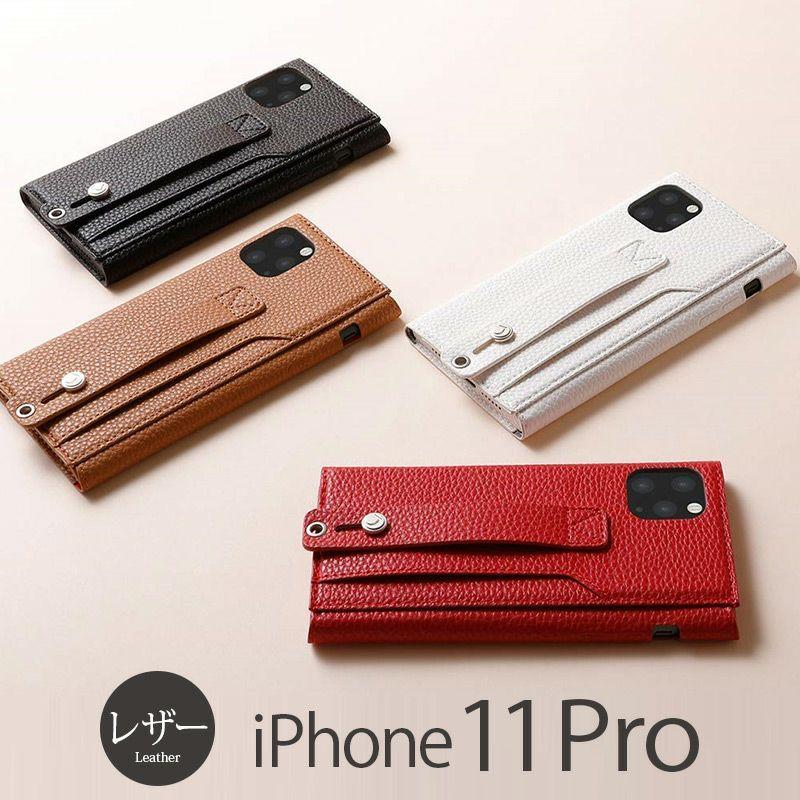 iPhone11 Pro レザー ケース 売上 ランキング 4位          『Deff clings Slim Hand Strap Case』 iPhone 11 Pro ケース レザー