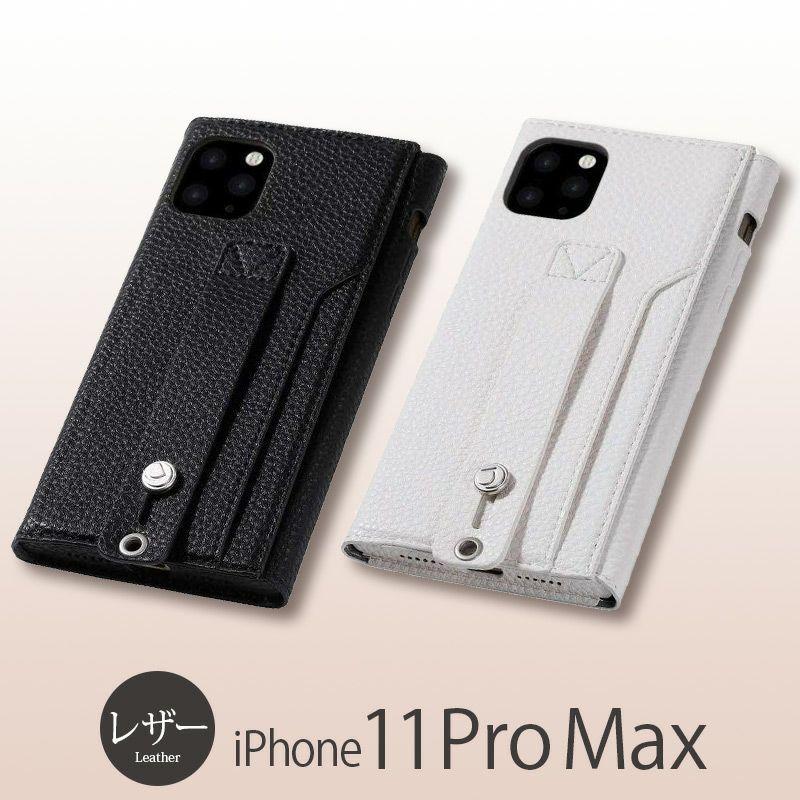 iPhone11 Pro Max レザー ケース 売上 ランキング 4位          『Deff clings Slim Hand Strap Case』 iPhone 11 Pro Max ケース レザー