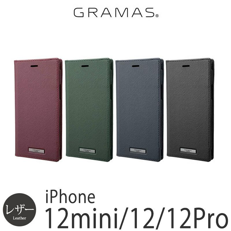 『GRAMAS グラマス EURO Passione PU Leather Book Case』 iPhone12 iPhone12Pro ケース 手帳型 レザー