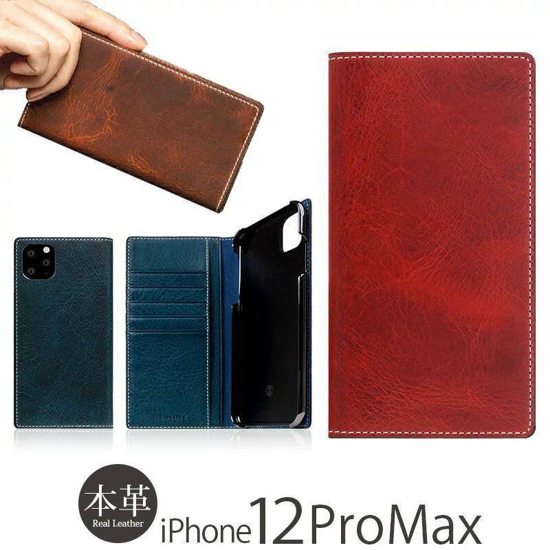 『SLG Design Badalassi Wax Case』 iPhone12ProMax ケース 手帳型 本革 レザー